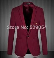 hot sale business affairs  lie fallow suits men edition a grain of  button big size suits C43 free shipping
