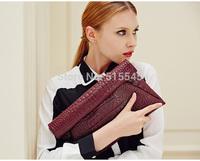 Fashion Women Leather Clutch Handbag With Free Gift