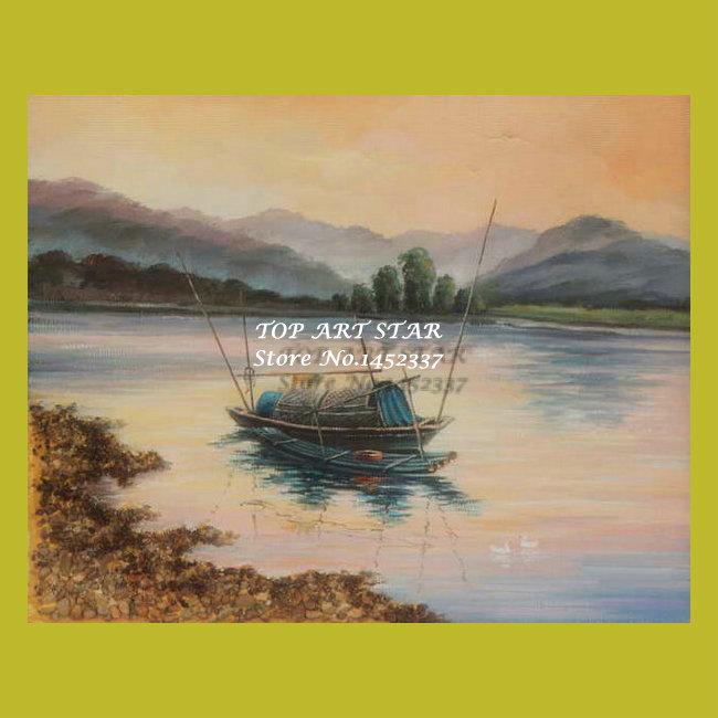 Impression bateau peinture l huile paysages impression Peinture impression