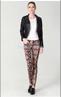 2014 fashion pencil printing feet pants for women 5736