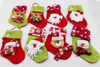 6pcs/lot 15x10cm Santa Claus&Snowman&Deer Christmas Stockings,Christmas Tree Decorations,Ornaments for Christmas Tree  s117