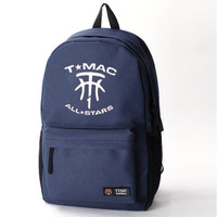 Free shipping McGrady Rockets Spurs basketball new boys and girls sports backpack schoolbag DIY made