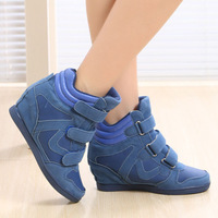 Fashion Velcro Platform Height Increasing Women Wedge Sneakers Ladies Casual Wedges Shoes Isabel Marant Sneakers For Women