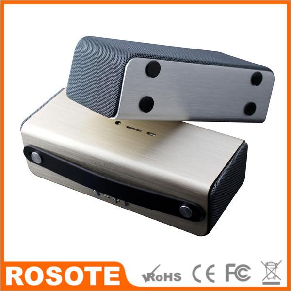 frete grátis 2014 novo v4.0 oi-fi alto-falantes sem fio bluetooth nfc metal portátil sem fio kit coluna traseira sistema(China (Mainland))