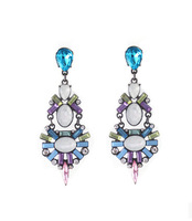 New Arrival fashion High quality crystal glass flash drill grandiose color  Earrings  Element  For Women Jewelry MD1100