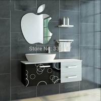 1 PIECE 35x30cm 14x12 in Crystal Apple Acrylic Wall 3d Mirror Sticker Wallpaper Child Bath Room Decoration