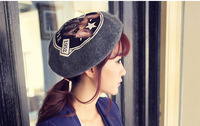 Lady woolen hat new lovely autumn bud beret hats for women Korea ball winter knitted cap female Gift