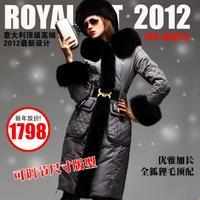 Italy Royalcat High Quality Elegant Fox Fur Slim Lengthen Thickening Down Coat Female-sz-U13186