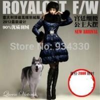 Hot !!XXL Coat Luxury Brand Fashion Women Large Raccoon Fur Collar Long Down Coats Slim Down Parkas Outwear