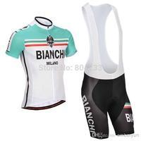 Free Shipping!2014 BIANCHI Cycling Jersey and Cycling Bib Shorts Kit/Bicycle wear,Size:S-XXXL