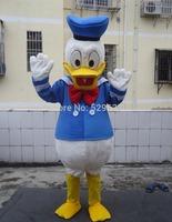 free shipping custom costumes ball Donald Duck and Daisy Mascot Costumes Cartoon dolls Imitation clothing cosplay+Cardboard head