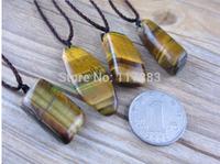 Natural Crystal yellow tiger eye Pendant men pendant + free rope wholesale
