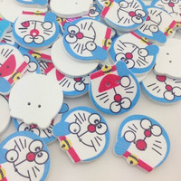 50 pcs Lovely Carton Cat Theme Sewing Buttons For Kid's Gift Craft Decoration