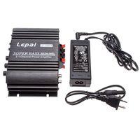 2014 latest Upgrated LEPAI LP-168HA HI-FI 2.1 MINI Super Bass Audio Amplifier
