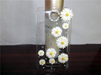 Newest ,Crystal Diamond Hard Back Skin Chrysanthemums, heart  Rhinestone Case For Alcatel One Touch POP C7 OT 7041D OT 7040D