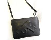 2014 New Women Handbag Fashion Pistol Bag Day Clutches Envelope Bag Vintage Messenger Gun 3D Bags Shoulder Bag