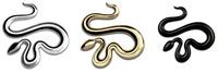 Car Styling Car Metal Badge Emblem Sticker Snake 3D Logo