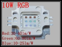 Best Price10W RGB Power LED 35mil Chip 1050mA 5pcs/lot