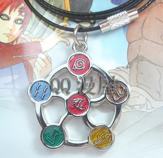 New Naruto Anime Products Ninjutsu Konoha Mobile phone chain Necklace Cosplay ACC Free Shipping(China (Mainland))