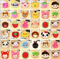 40PCS super cute creative cartoon animal plush zipper change purse small coin bag toy gift drop shipping