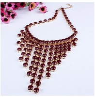 Supernova sale jewelry  Europe and America high quality colorful resin tassel pendant&necklace