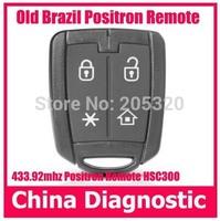 Old Brazil Positron alarm system remote with HSC300 chip Positron remote control key duplicator Brazil Positron alarm remote key