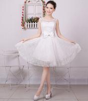 women party dress 6 color 2014 new short paragraph women bridesmaid dress women tutu dress banquet princess dress women S-XXL