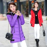 2014 real shot winter jackets new Korean Slim thick double hat coats long down jacket parka women coat