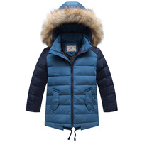 Children Clothing Winter Thick Duck Down Jackets Fashion Boys Fur Hooded Collar Warm Parkas Kids Down Coat Outerwear