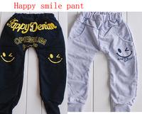 Retial  Free shipping Happy Smile Harem pants  children boys pants spring autumn cotton casual pants kids sports trousers