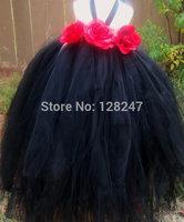 fashion real designer  christmas krikor-jabotian black halter princess gowns flower girls dress for weddings RTT-0453