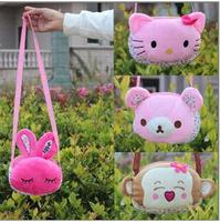 wholesale Children School Bag Cartoon Animal Canvas Backpack Baby Toddler Kids Leather Shoulder Kindergarten Schoolbag