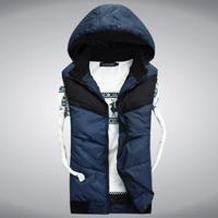 New Winter Men Vest Fashion Winter Outdoor Sleeveless Jacket Cotton Vest  Men Plush Size
