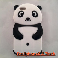 Soft Robber Panda Case for iPhone6 4.7inch   Free Shipping