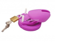 purple CB6000S Male Short chastity cage color silicone MALE Chastity device CB6000 sex toy 002