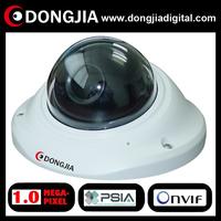 "QA-IP3134HD onvif PSIA P2P support audio 720P 1 Megapixel 2.5"" Mini vandalproof IP Camera CCTV Dome"
