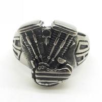 Motorbiker Men's Fashion Gothic Biker HD Jewelry R906 Fashion Silver Tone  Motorcycle Ring Size 8-13