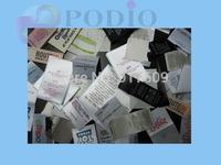 Custom made woven labels garment labels custom tags and labels clothing tags and labels 1000pcs/lot Free shipping