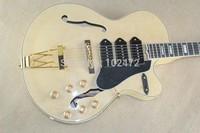 Classic  F-hole Three P90 pickups ebony fingerboard wood color electric guitar