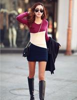 2014 New Arrived Korean Women dresses New commuter Slim long-sleeved winter models bottoming Dress
