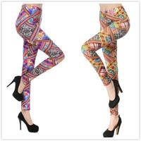 Hot Sale Fashion Women Legging Vintage Floral Exotic Flower Pattern Womens Printed Stretch Leggings UY1640