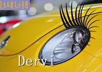 A Pair CAR EYELASHES,Black Cute Auto 3D Universal Headlight Eyelashes for Cars