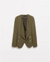 Spring Jacket 2015 Women Zipper Coat  New Casacos Femininos Brand Jaqueta Feminina Women Clothing A178