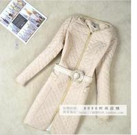 2014 Autumn Winter Coat Women Wadded Jacket Slim Desigual Plus Size 5xl Down Jacket Casacos Femininos Long Outerwear no belt
