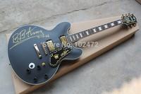 Classic  Sir BBKING solid matt black electric guitar models commemorative section electric guitar