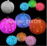 10Pcs/Lot Changing colorful pumpkin small night light + Light Decoration Candle Lamp .Christmas Romantic gift
