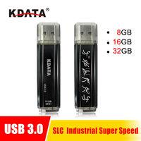 KDATA Industrial High-speed 8GB/16GB/32GB USB3.0 Flash Drive SLC chip pendrive Metal sport style Memory Thumb Stick  Free Ship