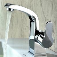 Brass Contemptorary Bathroom Sink Hot Cold Mixer Deck Mounted Single Hole Water Tap Polished Basin Faucet torneira para banheiro