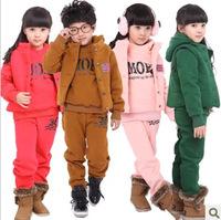 215Free shipment child winter outer wear set  three pieces set Moq1set