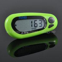 Hot Eagle Star LCD Digital 3D Pedometer Step Run Distance Calorie Walking Counter Pocket Clip 10pcs/lot